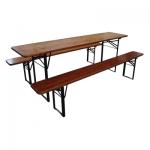 Комплект за бирфест - дървена маса с 2 бр дървени пейки