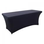 Калъф от еластан за правоъгълна маса - черен