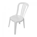 PVC стол без подлакътници – бял
